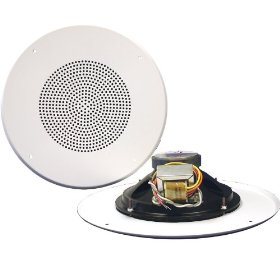 Pure Resonance Audio 825WT-GS 8 Inch Ceiling Speaker Full Range 2 Way Loudspeaker, 70 Volt Transformer