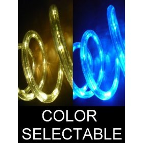 50Ft Color Selectable Rope Lights; ocean blue and warm white LED Rope Light Kit; Christmas Lighting; outdoor rope lighting