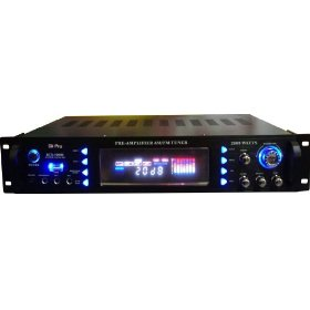 BRAND NEW GLI PRO RCX-5000USB 2000w 4 CHANNEL DIGITAL HYBRID AMPLIFIER WITH BUILT IN HIGH PASS (1) AND LOW PASS (2) PRE-AMP OUTPUTS / DIGITAL RADIO AND USB INPUT