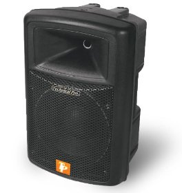 Technical Pro POWER-1201 ABS Molded 1200 Watt Powered Loudspeaker (Black)