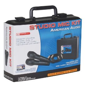 American Audio Studio Mic Kit Dual Wired Mic Kit With Case