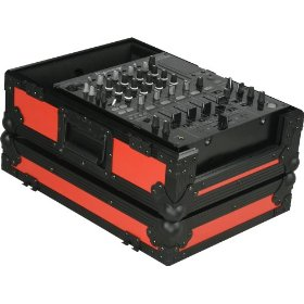 Marathon Flight Ready MA-12Mixblkred Red - Black Series - 12-Inch DJ Mixer Case Fits Large Format 12-Inch Size Mixers