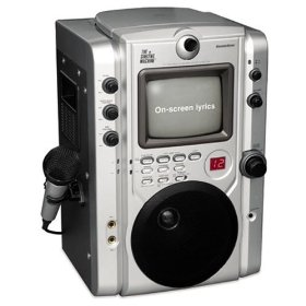 Singing Machine STVG-520 Top Loading CDG Karaoke System With Monitor for Scrolling Lyrics plus Video Camera - STVG-520