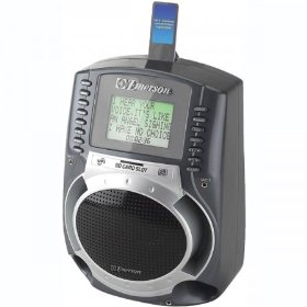 Emerson SD512R Portable Karaoke MP3 Lyric Player with 3-Inch Lyric Sreen, SD Slot and 150 Songs