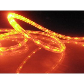 18Ft Rope Lights; Orange (Deep Amber) LED Rope Light Kit; 1.0