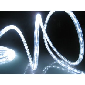 25Ft Rope Lights; Cool White LED Rope Light Kit; 1.0