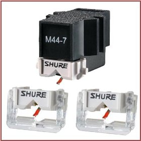 Shure M44-7 Standard DJ Turntable Competition Cartridge + 2 Shure N44-7 Stylus