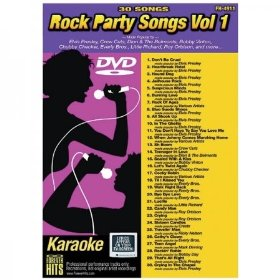 Forever Hits 4911 Rock Party Songs Vol 1 (30 Song DVD)