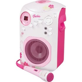 Emerson Radio Barbie BAR505 Flower Karaoke CD+G System (Pink)