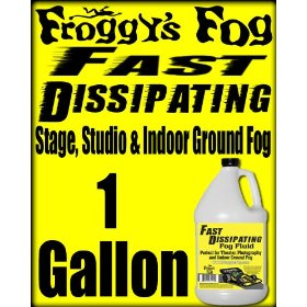 Froggys Fast Dissipating / Indoor Ground Fog Juice - 1 Gallon Fluid Scented: UNSCENTED