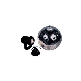 American DJ  M-500L 12 Inch Mirror Ball Kit With Motor, Pinspot And Gels