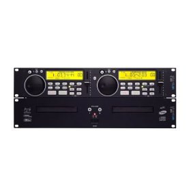 Dual Rackmount CD Player with MP3 Playback