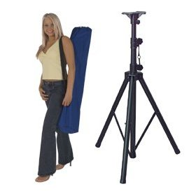 Dayton TSS100K Tripod Speaker Stand Black with Bag