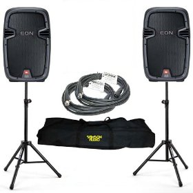 2 JBL EON 510 Powered PA DJ Speakers Bundle