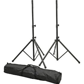 ProLine PLSP1 Speaker Stand Set with Bag, Black