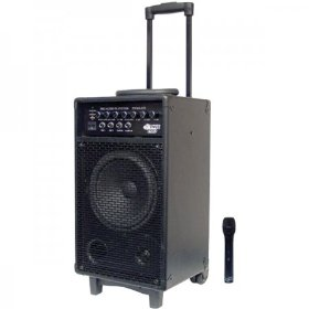 300-Watt Battery Powered PA System with Wireless Mic