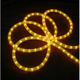 18' Bright Gold Indoor/Outdoor Christmas Rope Lights