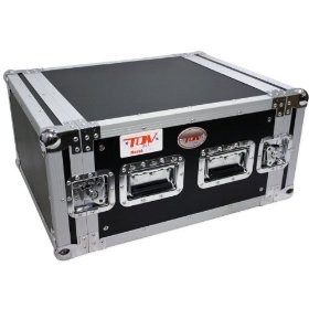 Brand New Tov T-6rss 6u Dj Amp Vertical Rack Case - Signature Series with Thicker 3/8