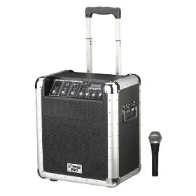 Pyle-Pro PCMX260MB 200 Watt Rechargeable Portable PA System with USB, SD, MP3 Inputs (Microphone Included)