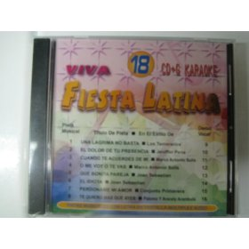FIESTA LATINA #18 8x8 Multiplex Karaoke CDG W/ Spanish Guide Vocals