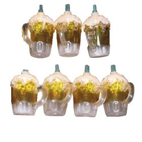 Kurt Adler UL0565 Beer Mug Light Set, 10 Light