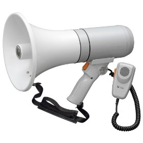 TOA ER-3215 Shoulder Megaphone Detachable Hand-Held Mic with Volume Control and OnOff Switch