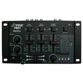 Pyle-Pro - Professional 2-Stereo Channel DJ Mixer W/ USB Player