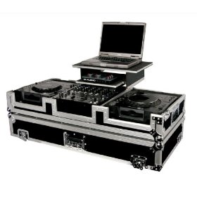 Odyssey FZGS12CDJW Flight Zone Glide Style Ata Dj Coffin With Wheels For A 12 Mixer And Two Large Format Cd Players
