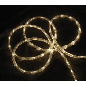 18' Warm Clear LED Indoor/Outdoor Christmas Rope Lights