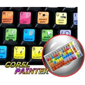 NEW COREL PAINTER KEYBOARD STICKERS FOR DESKTOP, LAPTOP AND NOTEBOOK