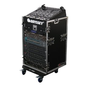 Odyssey FZ1016W Flight Zone Ata Combo Rack: 10u Slant, 16 Vertical