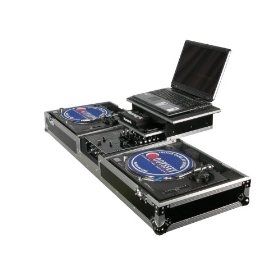 Odyssey FZGSDJ10W Flight Zone Glide Style Ata Dj Coffin With Wheels For A 10 Mixer & Two Turntables In Standard Position