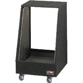 Odyssey CRS20W 20 Space Carpeted Studio Rack With Wheels
