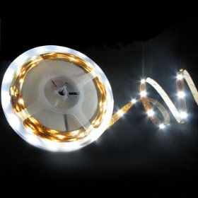 LED Flexible Light Strip Withe 150x 5050 Tri Chip SMD and 3m Tape Back,16.4 Ft White, 2030WH1