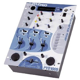 PylePro 10'' Three Channel DJ Trick Mixer w/ Punch and Sound Effects - PYD1005