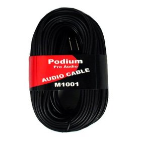 New 100' Pro Audio Speaker Cable Two 1/4