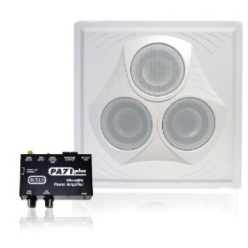 Conference Room Sound System 1 Vector Ceiling Speaker, 1 Spring-Loaded Output Mixer Amplifier