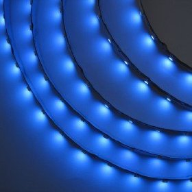 12V SMD3528 LED Horizontal Ribbon Flexible LED Strip Light 5M/16Ft Waterproof - Blue Color