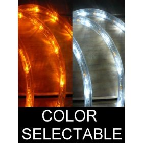 50Ft Color Selectable Rope Lights; orange and pure white LED Rope Light Kit; Christmas Lighting; outdoor rope lighting