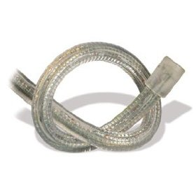 10.5 foot section of clear 3/8 inch rope light