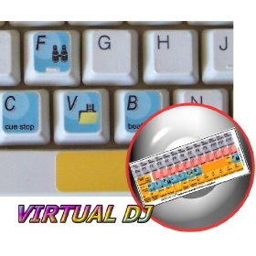 VIRTUAL DJ KEYBOARD STICKERS FOR DESKTOP, LAPTOP AND NOTEBOOK