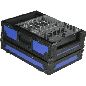 Marathon Flight Ready Blk Series Case MA-12Mixblkblue- Black Series - 12-Inch DJ Mixer Case Fits Large Format 12-Inch Size Mixers (Blue)