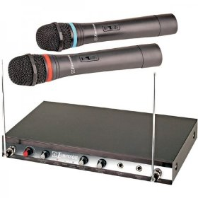 Emerson WM320 Karaoke Wireless Microphone - Dual Channel DVD Karaoke Converter w/30-Song DVD