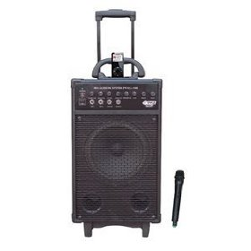 Pyle-Pro PWMA930I 600-Watt VHF Wireless Portable PA System/Echo with iPod Dock