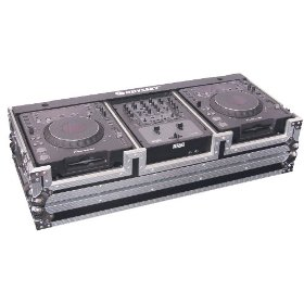 Odyssey FZ10CDJW Flight Zone Dj Coffin With Wheels For A 10 Mixer And Two Large Format Cd Players