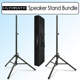 Ultimate Support TS-80B Original Speaker Stand Bundle