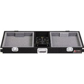 Odyssey CDJ10 Carpeted Dj Coffin With Recessed Latches For A 10 Mixer And 2 Turntables In Standard Position
