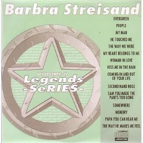 Barbra Streisand Karaoke Disc - Legends Series CDG VOL .006