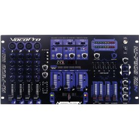 VocoPro KJ-7808RV Professional KJ/DJ/VJ Mixer with DSP Mic Effect and Digital Key Control