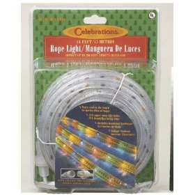 CELEBRATIONS LIGHTING 2T4122A1 ROPE LIGHTS 18' - MULTI COLOR